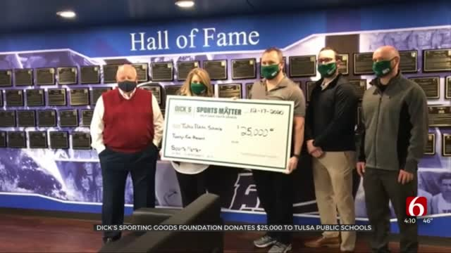Tulsa Public Schools Receives $25,000 Donation For Student-Athletes