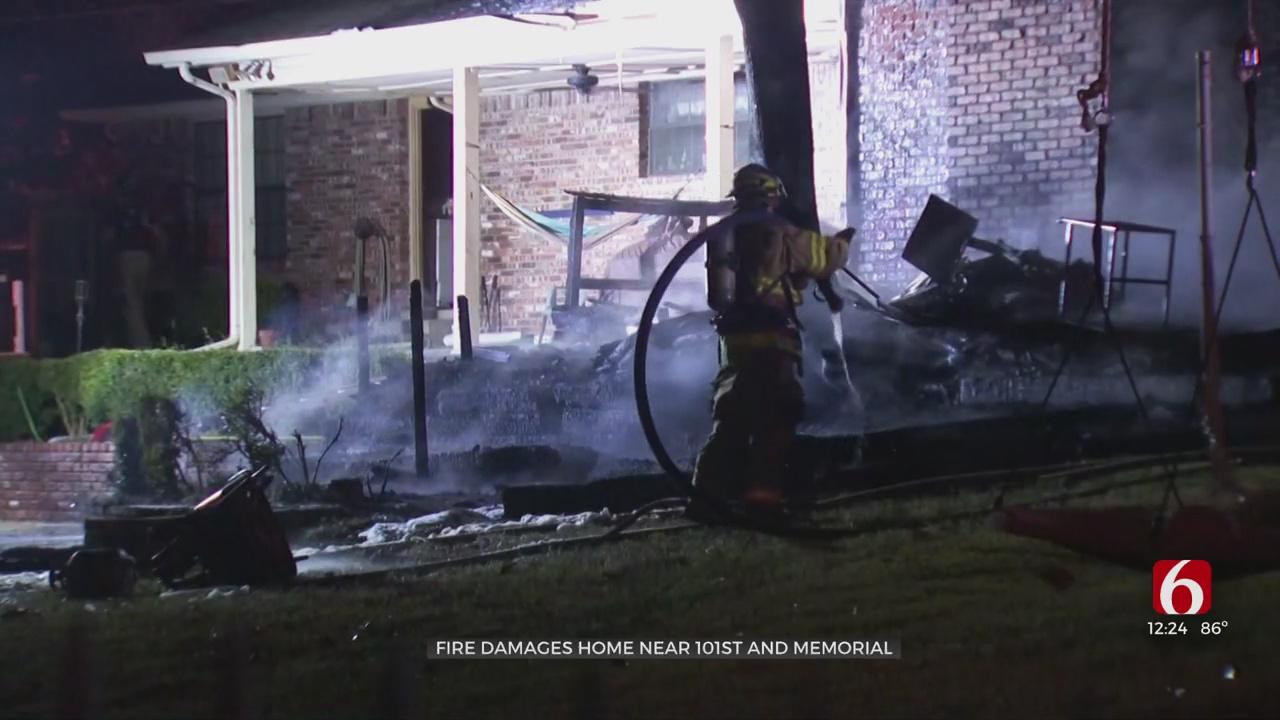 Fire Damages Home Near 101st & Memorial