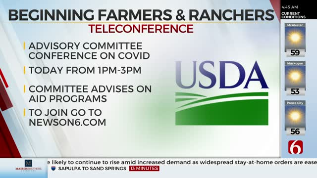 Beginning Farmers And Ranchers Grant Program To Hold Teleconference On COVID-19 Impact