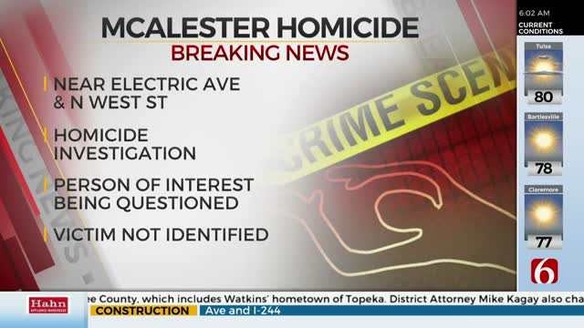 McAlester Police Investigating Homicide After Man Found Dead In Home