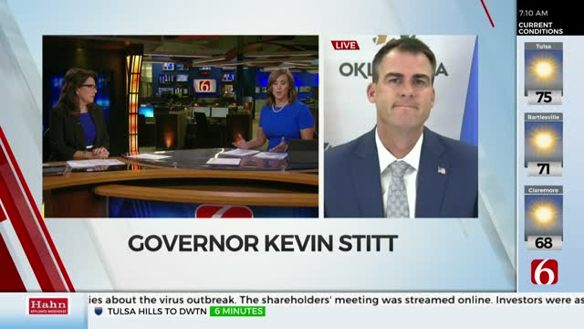 WATCH: Gov. Stitt Discusses President Trump's Rally, Reopening The Economy