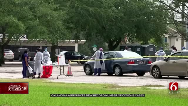 Gov. Stitt Addresses Oklahoma's New Record Number Of COVID-19 Cases
