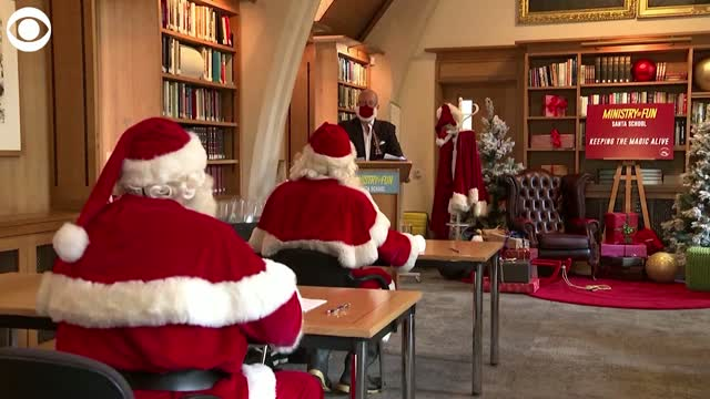 Watch: Santas Head To School To Learn How Continue Traditions & Stay Safe During COVID-19