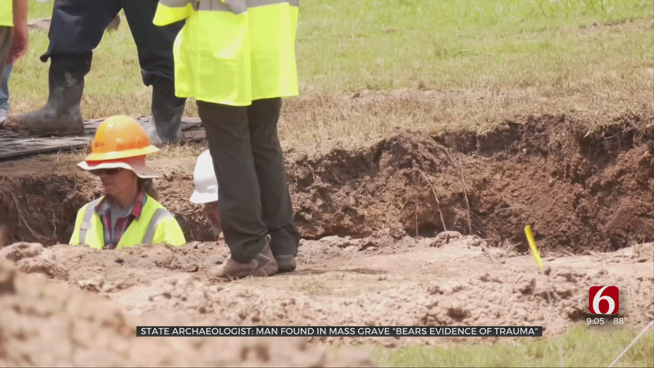 State Archaeologist: Man Found In Mass Grave 'Bears Evidence Of Trauma'