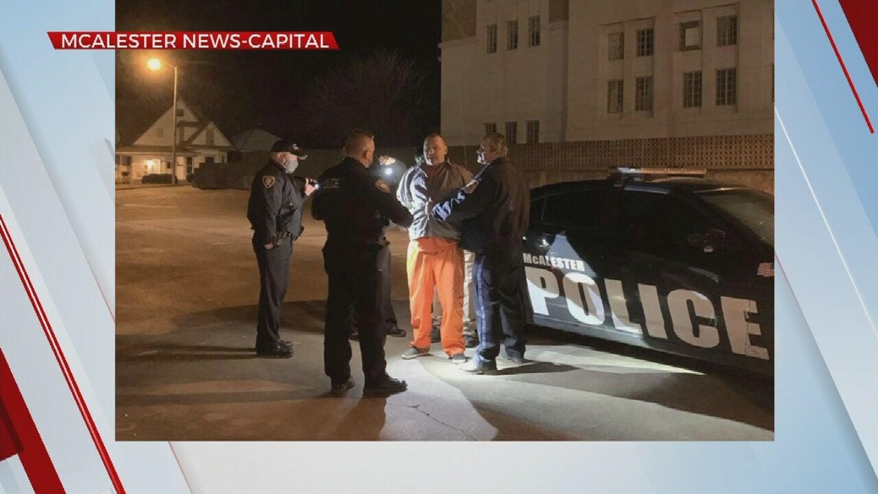 McAlester Police Say Prisoner Back In Custody After Escaping