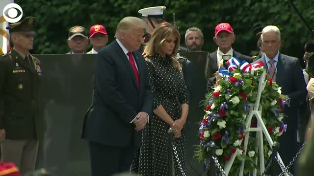 President Trump Attends Wreath Laying At The Korean War Veterans Memorial