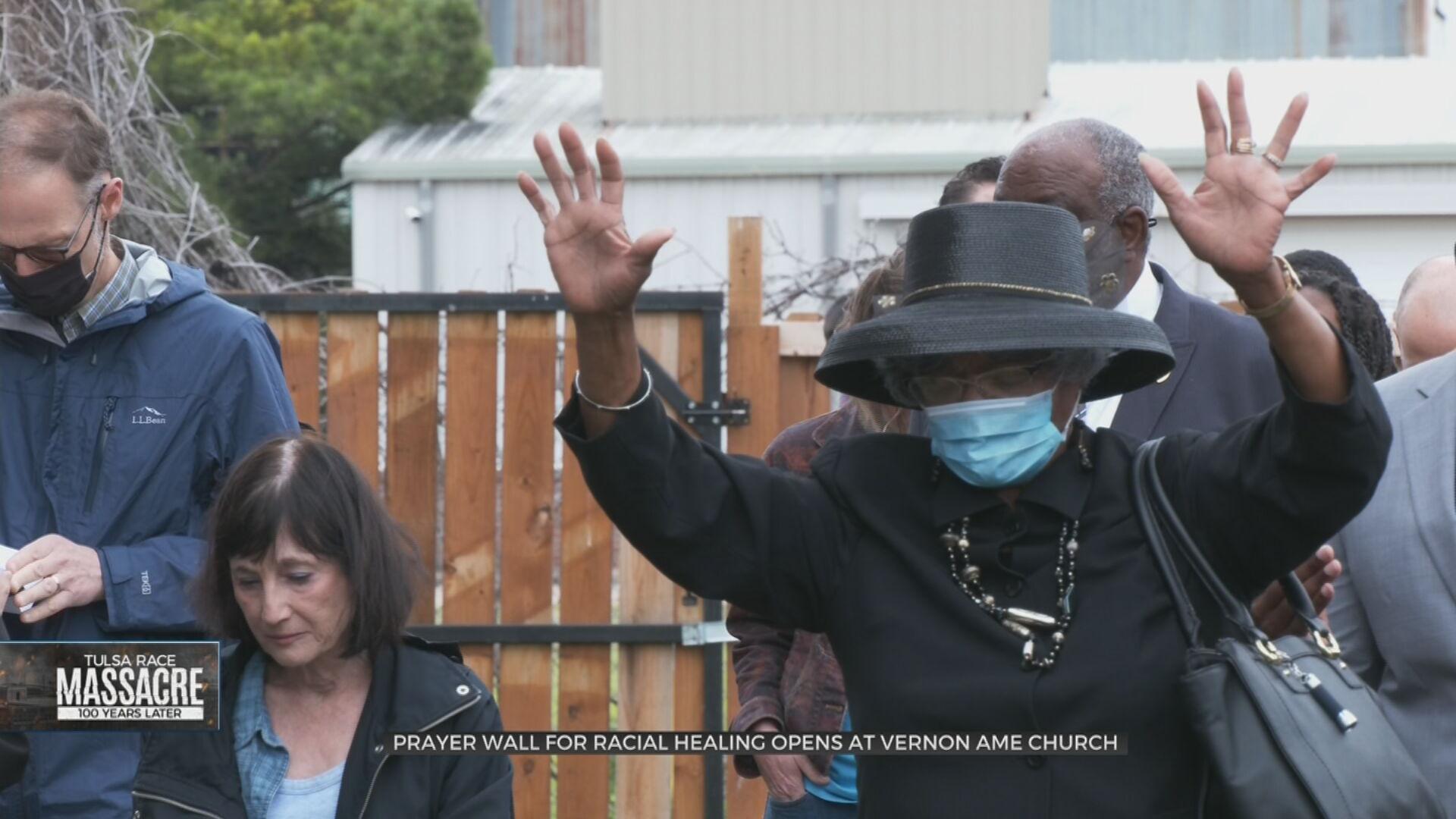 Tulsa Faith Leaders, Community Dedicate Prayer Wall At Vernon AME Church