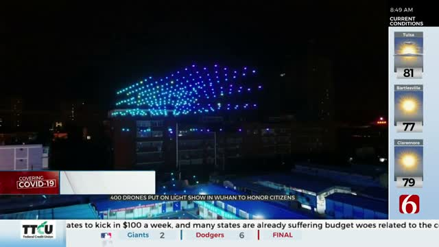 Watch: Drones Light Up The Sky In China