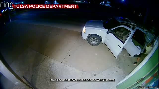 Tulsa Police Release Video Of Burglary Suspects