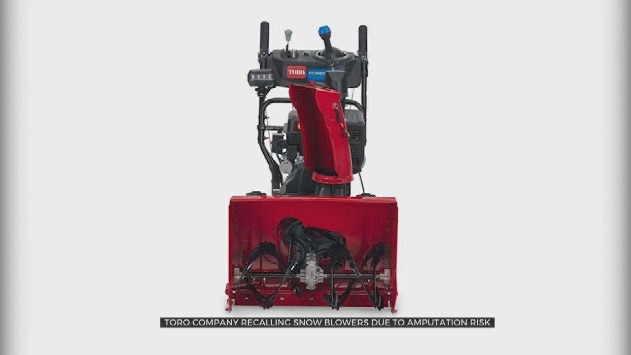 Toro Recalls Snow Blowers Due To Amputation Hazard