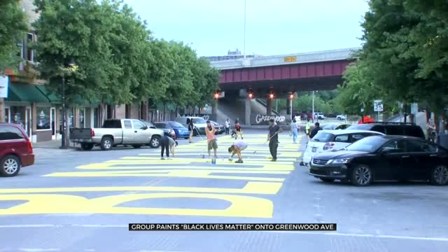 Group Paints 'Black Lives Matter' On Historic Greenwood Avenue In Tulsa