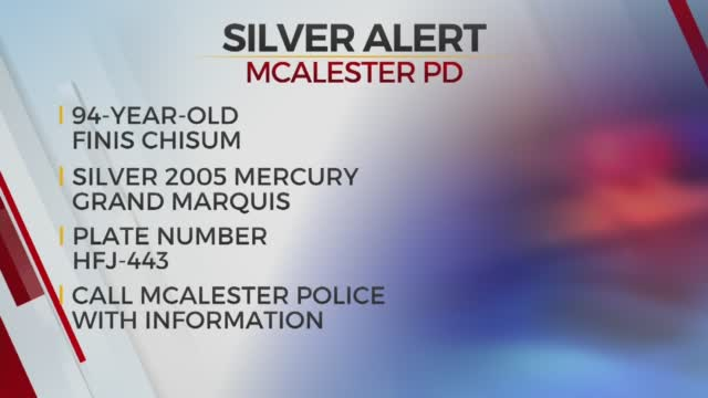 Silver Alert Issued For Missing McAlester Man