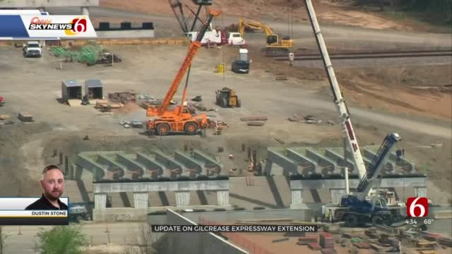 Osage SkyNews 6 Flies Over Gilcrease Expressway Extension Construction