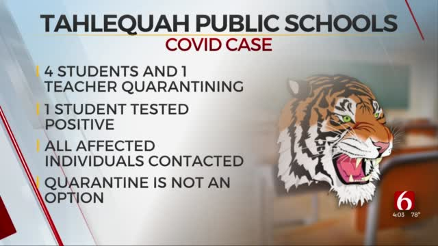 Tahlequah Public Schools Reports High School Student Tested Positive For COVID-19