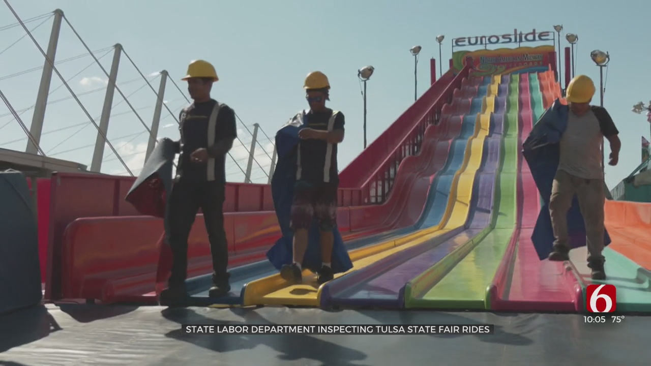 Safety Inspectors Ensure Tulsa State Fair's Nearly 70 Rides Are Ready To Go