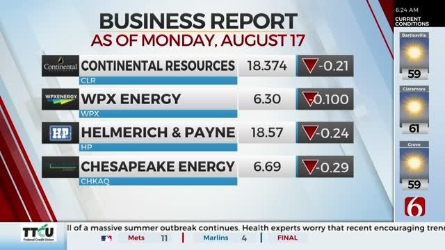 Watch: Oklahoma Company Stocks On Tuesday