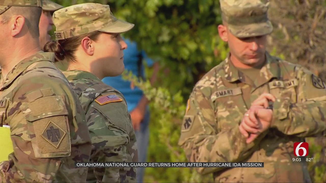 Oklahoma National Guard Returns Home After Hurricane Ida Mission