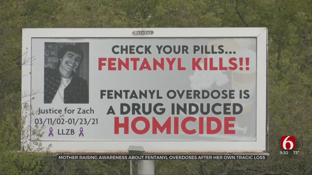 Bartlesville Mom Using Billboard To Share Dangers Of Fentanyl After Losing 18-Year-Old Son