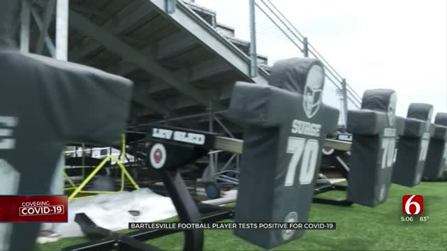 Bartlesville Football Player Tests Positive For COVID-19