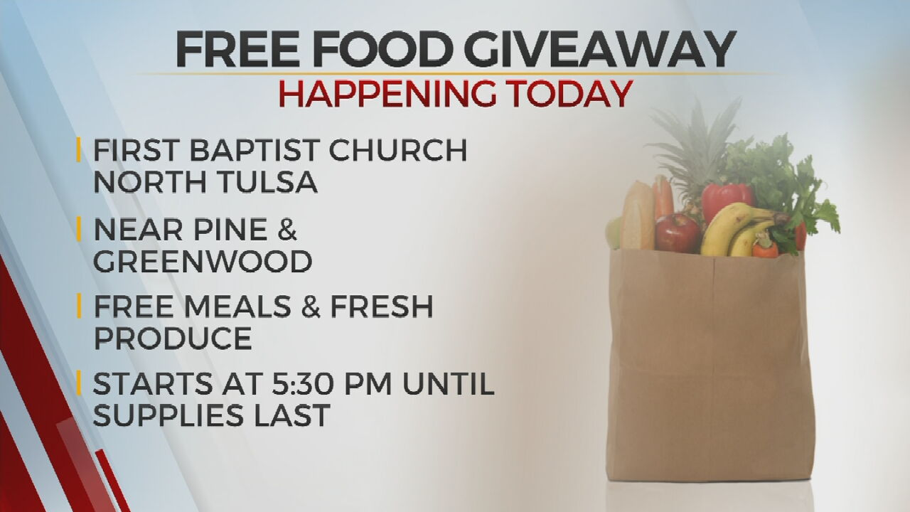 Tulsa Food Pantries, Churches Host Weekly Contactless Grocery Giveaway