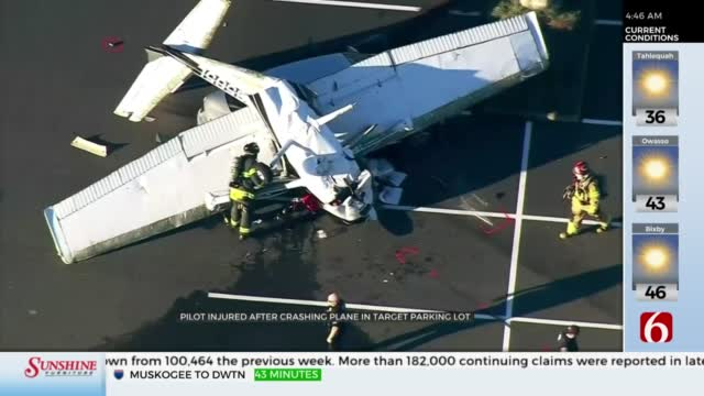 Plane Crashes Into Parked Car At Washington State Target