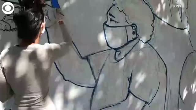 Health Care Workers Thank Public In San Francisco With Mural