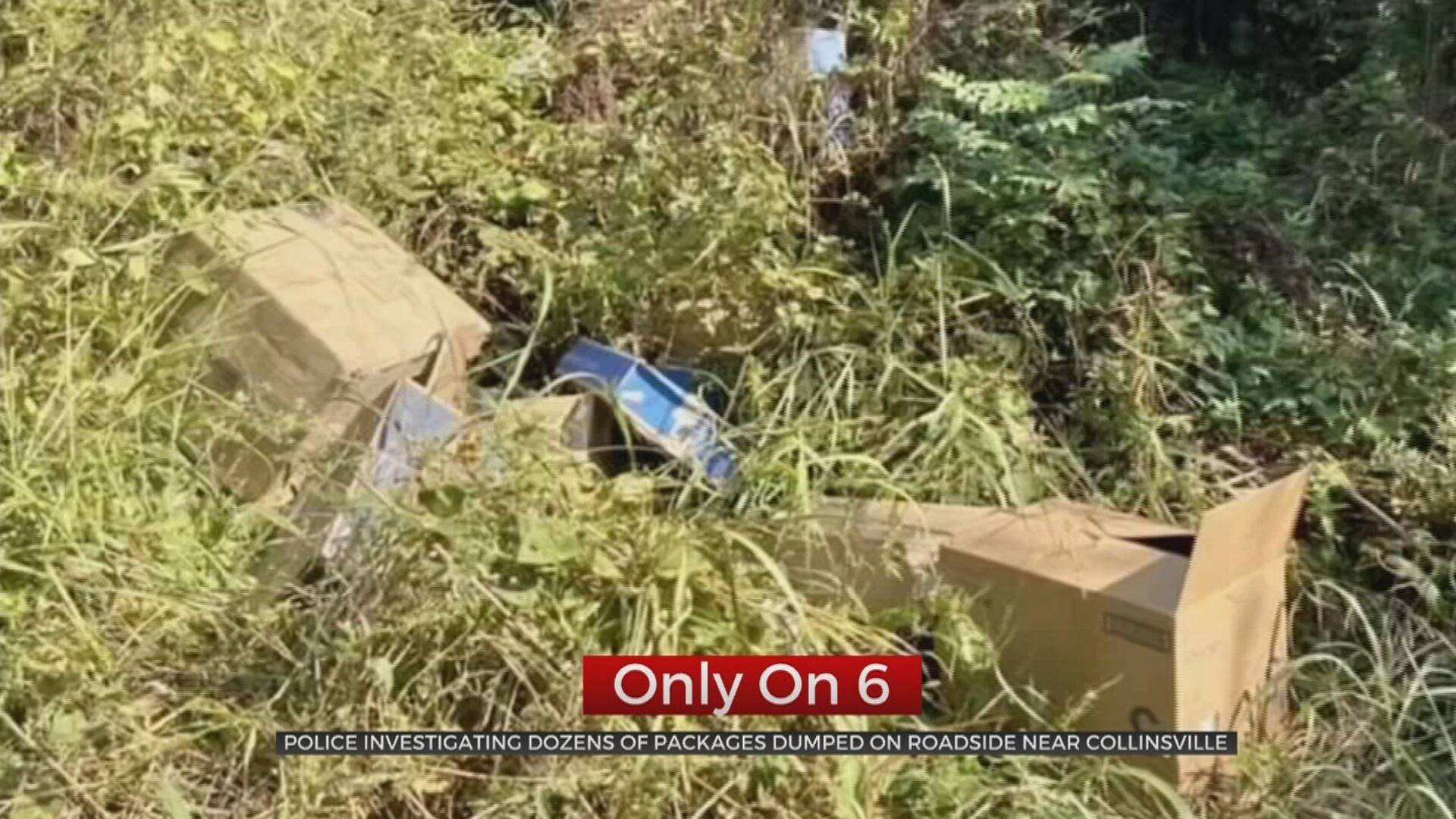 Police Investigate Dozens Of Packages Dumped In Ditch Near Collinsville