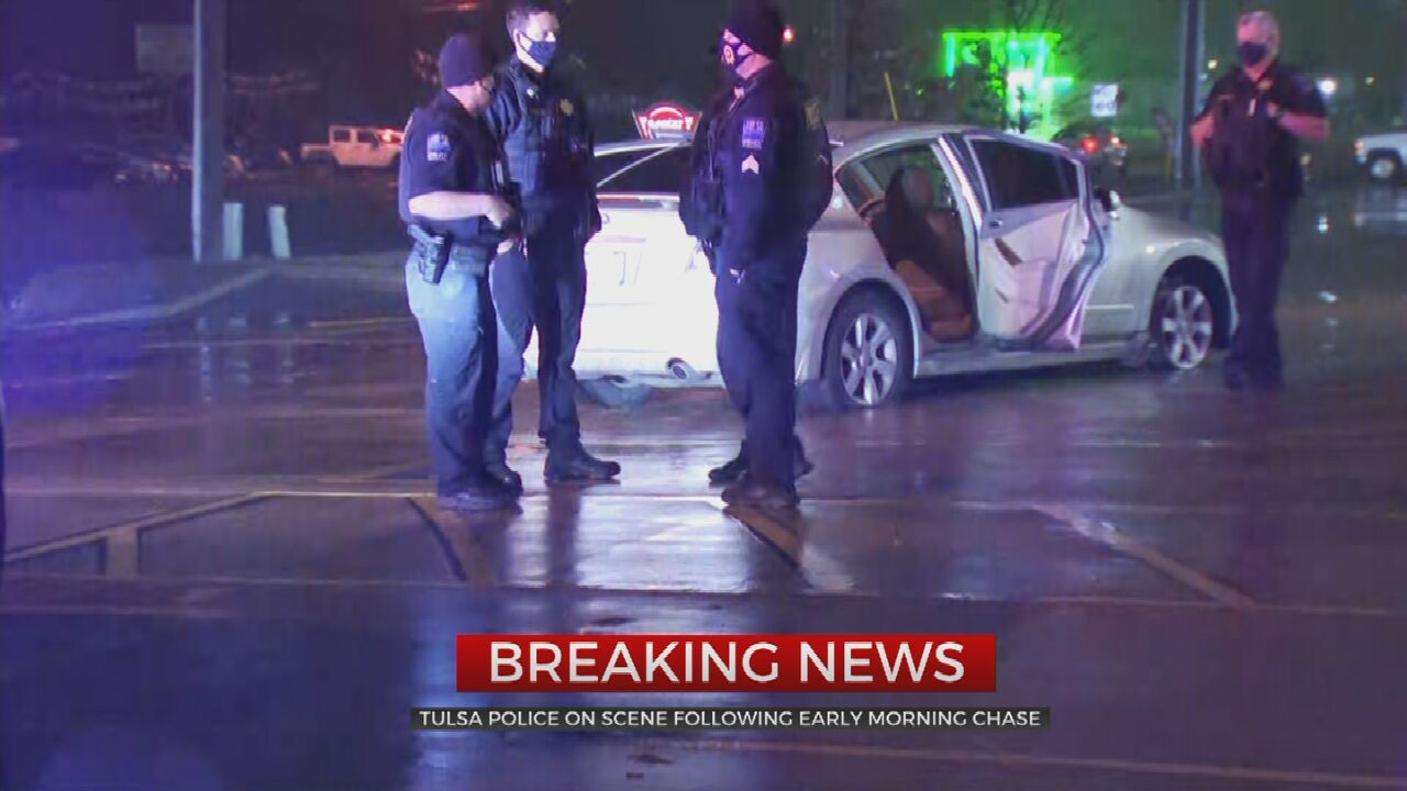Tulsa Police Say 5 People In Custody After Overnight Chase