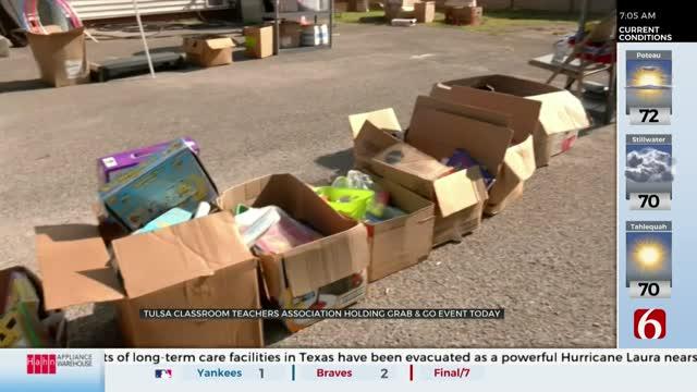 Tulsa Classroom Teachers Association Holds Annual Give & Grab Event