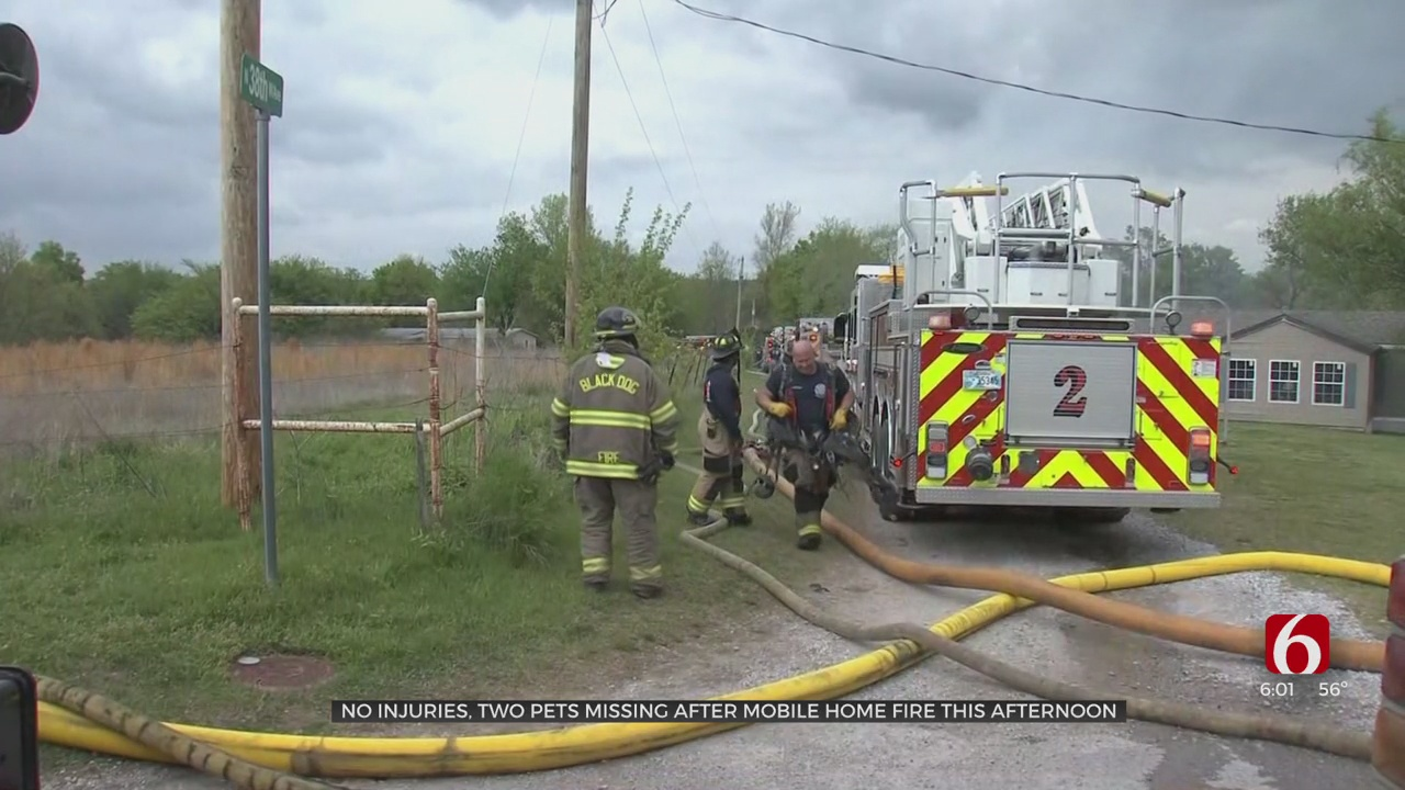 Fire Officials Searching For Cause Of Tulsa Mobile Home Fire