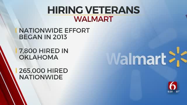 Walmart Celebrates Hiring More Than 7,800 Veterans In Oklahoma