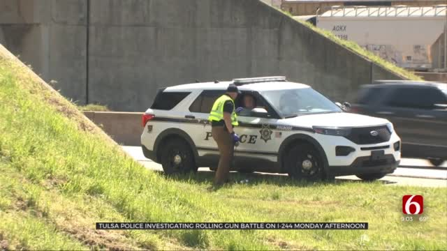 Tulsa Police Investigate After Rolling Gun Battle On Highway Injures 2 Teens
