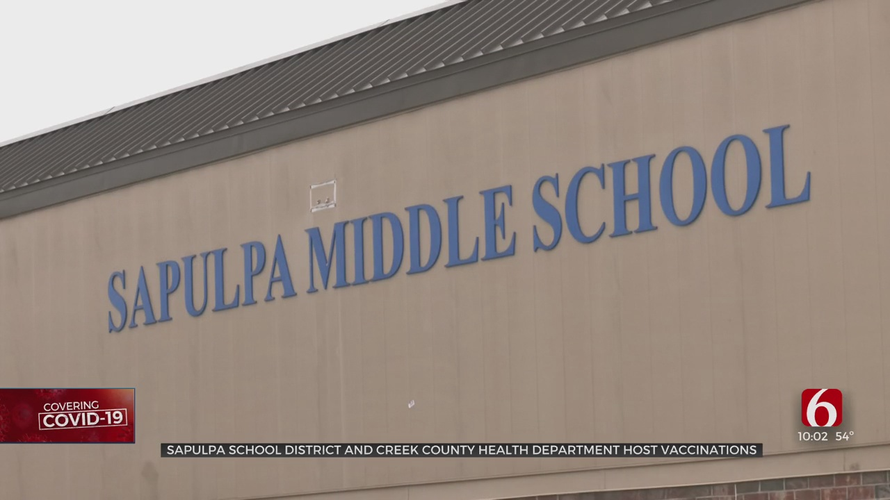 Sapulpa Public Schools, Creek County Officials Team Up To Vaccinate Teachers And Support Staff
