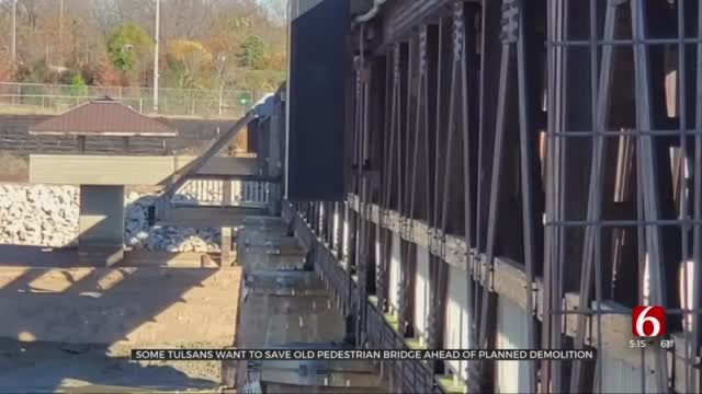Some Tulsans Want To Save Old Pedestrian Bridge Ahead Of Planned Demolition
