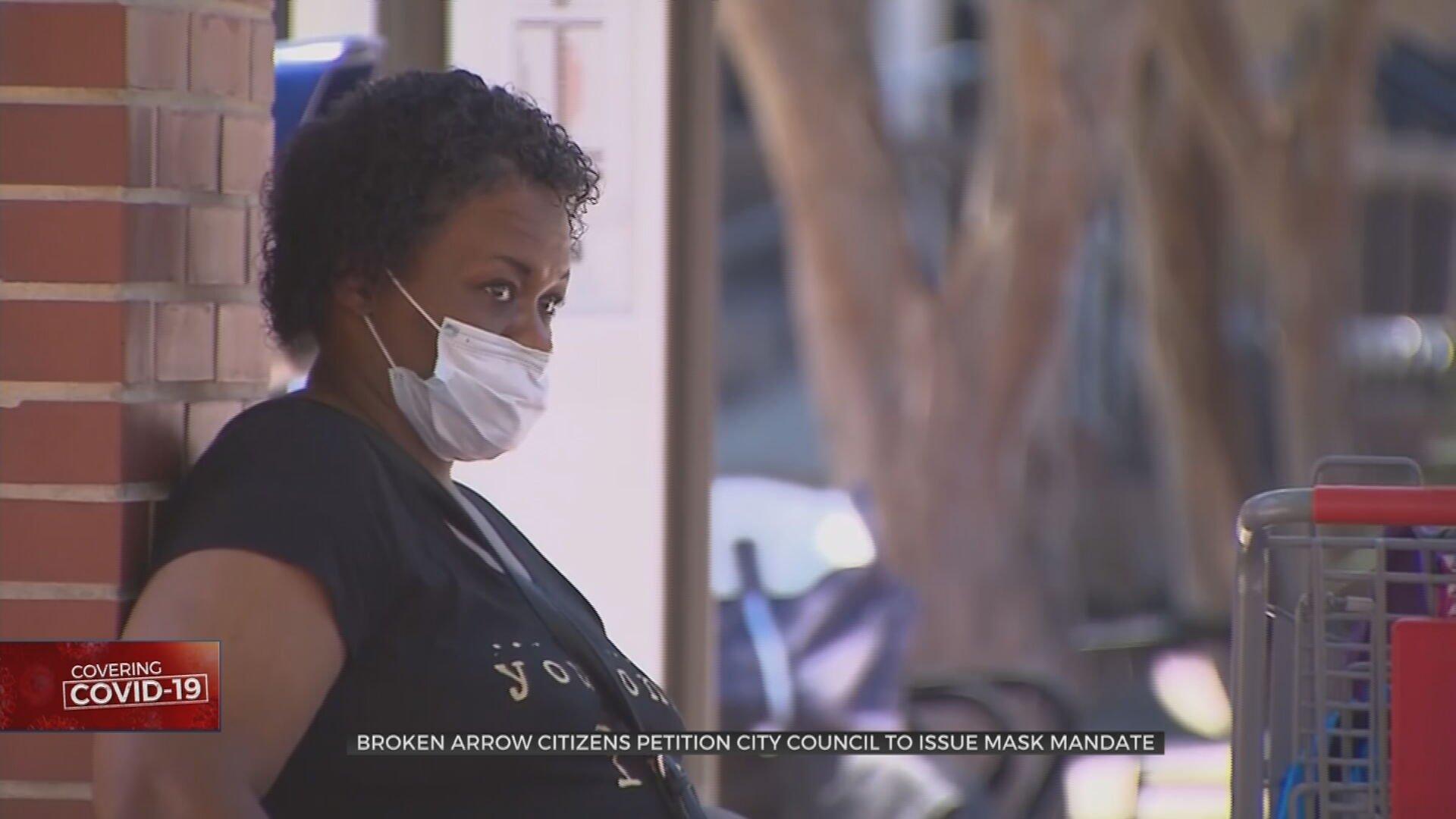 Hundreds Of Broken Arrow Citizens Petition City Council For Mask Ordinance