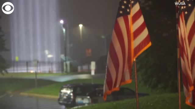 Watch: The 'Towers of Light' 9/11 Memorial Lights At The Pentagon Honor Victims