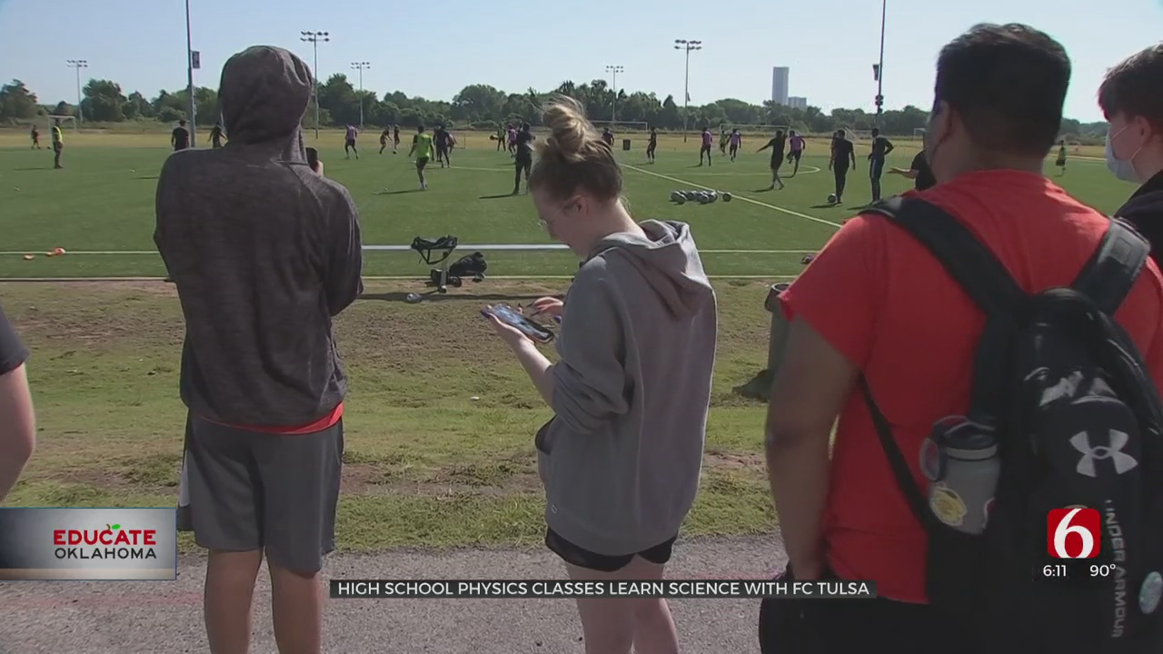 Science & Soccer: Booker T. Physics Students Collect Data At FC Tulsa Practice
