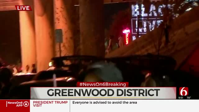 Protesters Gather, Move To Greenwood District
