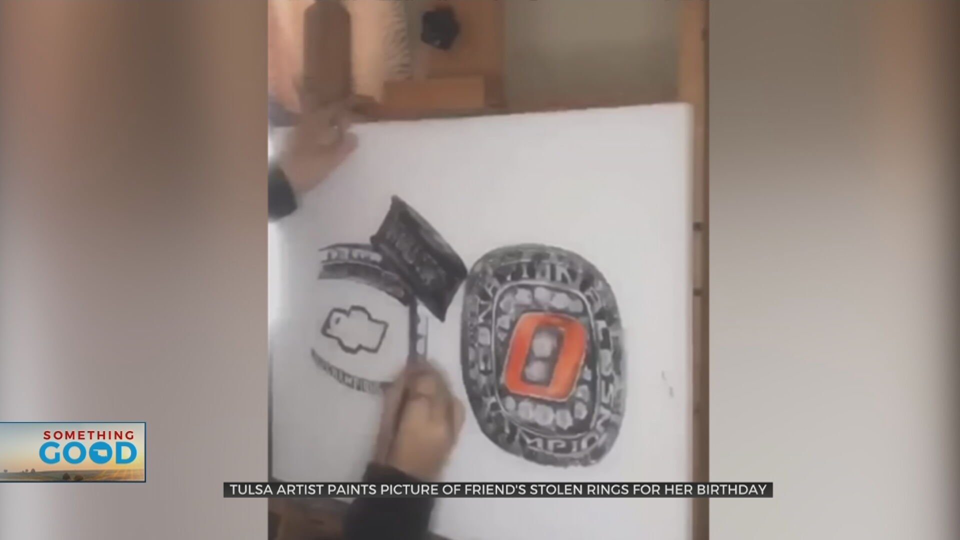 Tulsa Artist Gifts Painting Of Best Friend's Stolen Rings For Her Birthday