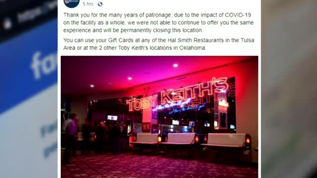 Toby Keith's Bar & Grill To Close At Hard Rock Casino In Catoosa