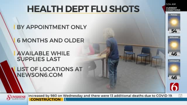 THD Offering Flu Shots Beginning Thursday