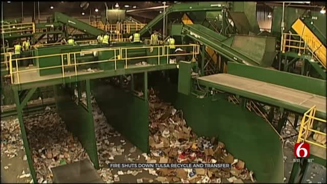 Fire Disrupts Tulsa Recycling; City Temporarily Combining Trash, Recyclables