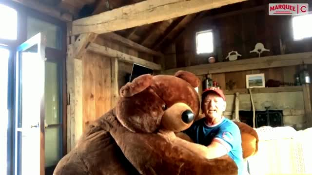 WATCH: Bill Murray Sings Take Me Out To Ballgame With Giant Teddy Bear