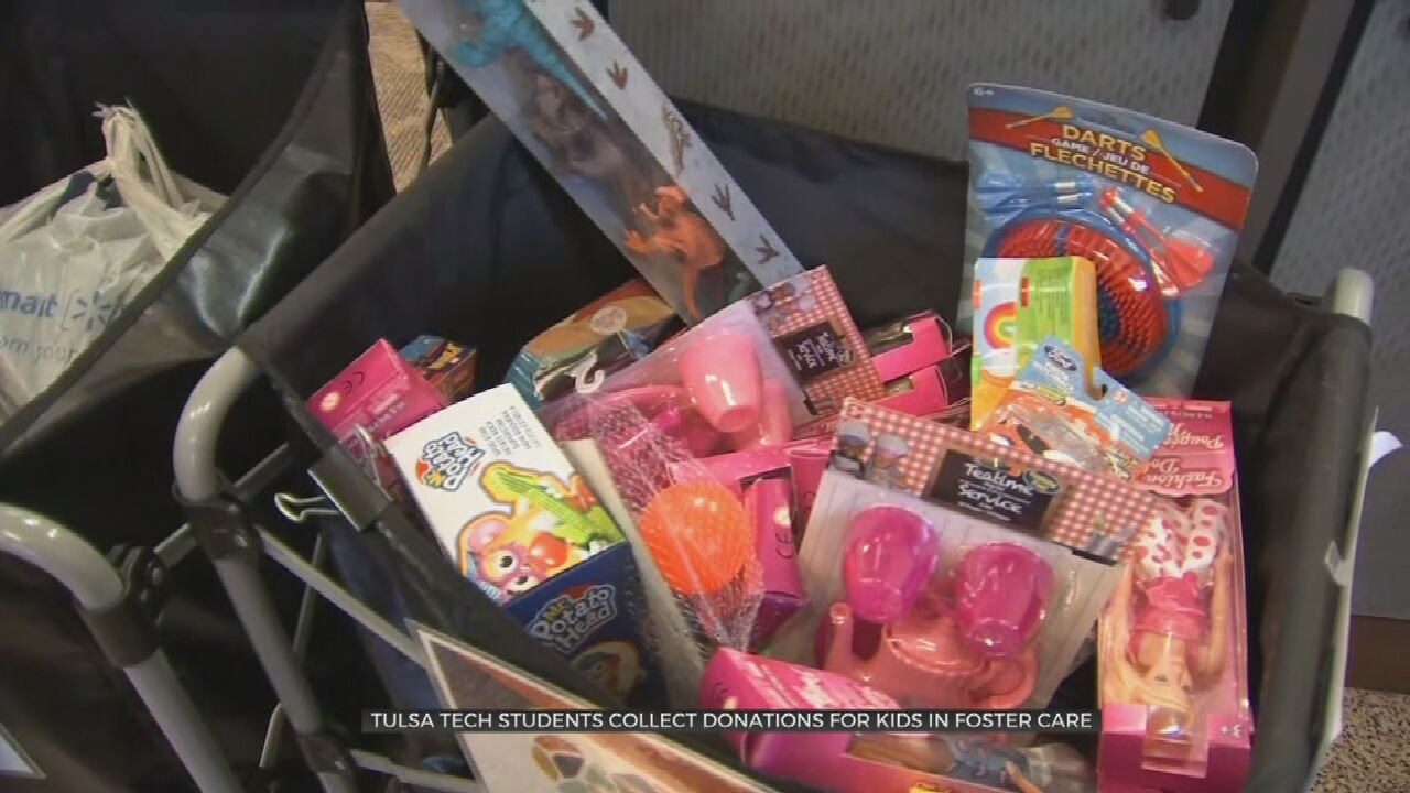 Tulsa Tech Students Collect Donations For Kids In Foster Care