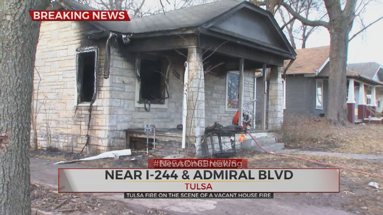 Tulsa Firefighters Respond To Vacant House Fire Near I-244, Admiral
