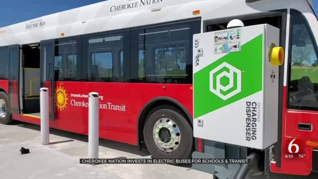 Cherokee Nation Invests In Electric Buses For Schools, Transit Service