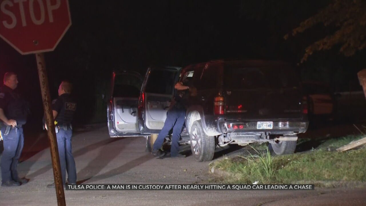 TPD: Man In Custody After Nearly Hitting Patrol Car, Leading Officer On Chase