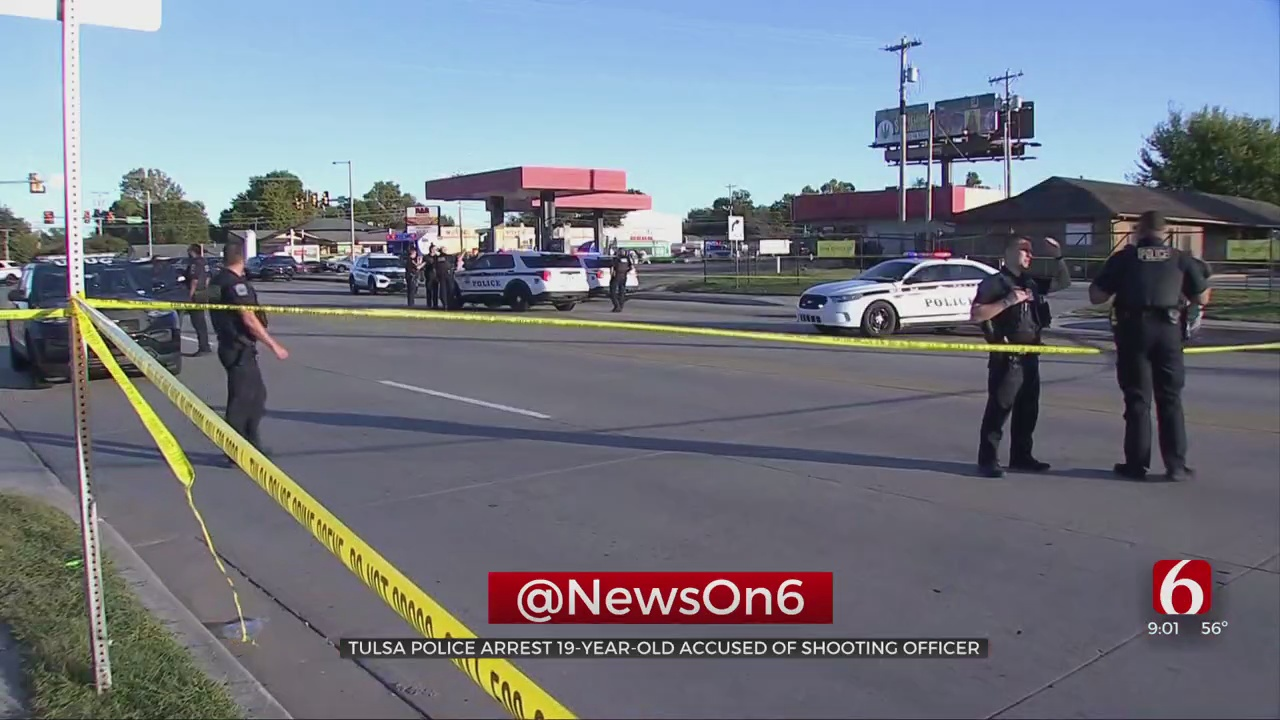 1 Arrested After Tulsa Police Officer Shot In Arm Near Johnson Park