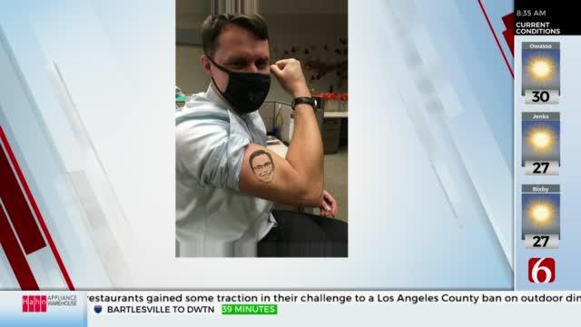 Watch: News On 6's Dave Davis Gets Temporary Tattoo Of Alan Crone