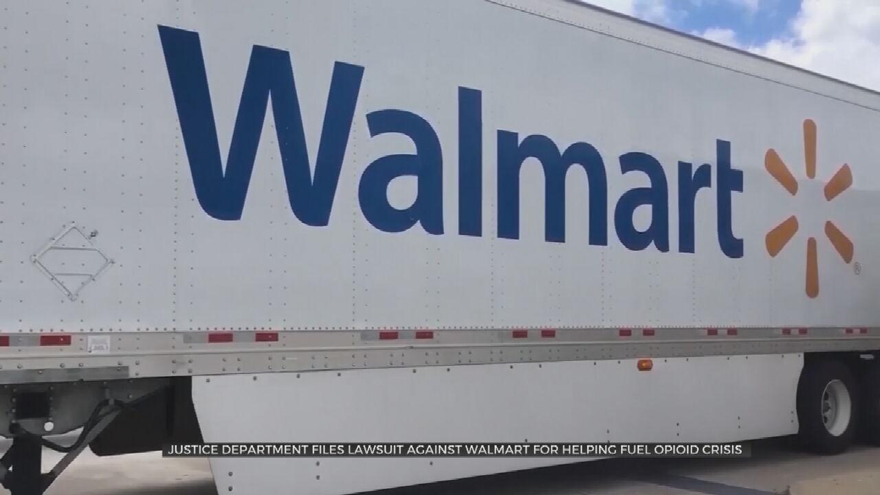 Department Of Justice Sues Walmart Over Opioid Crisis